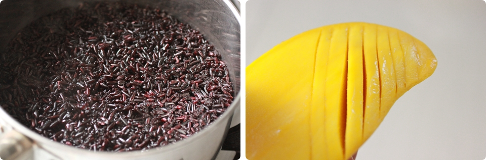 Black Rice with Mango in Coconut Sauce