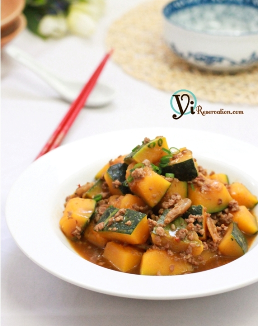 Post image for Braised Spicy Pumpkin (肉碎燜南瓜)