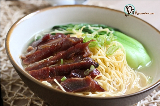Post image for Char Siu (Roast Pork) Noodle Soup | 叉燒湯麵
