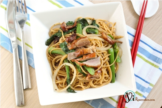 Post image for Spaghetti with Duck in Black Pepper Sauce | 黑椒烤鴨炒意粉