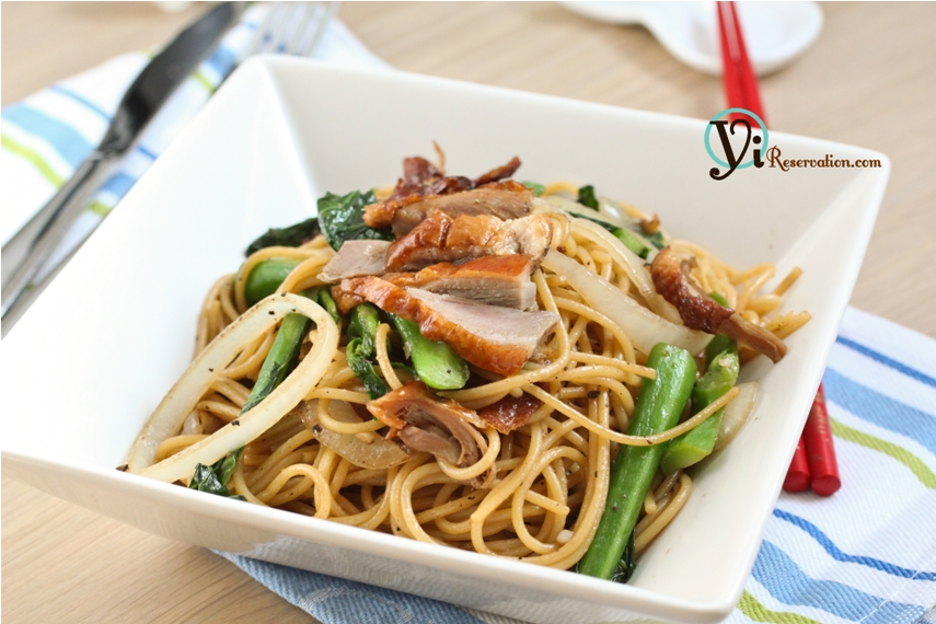 Spaghetti with Duck in Black Pepper Sauce|黑椒烤鴨炒意粉