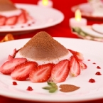 Chocolate-Strawberry Panna Cotta