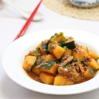 Braised Spicy Pumpkin (肉碎汶南瓜)