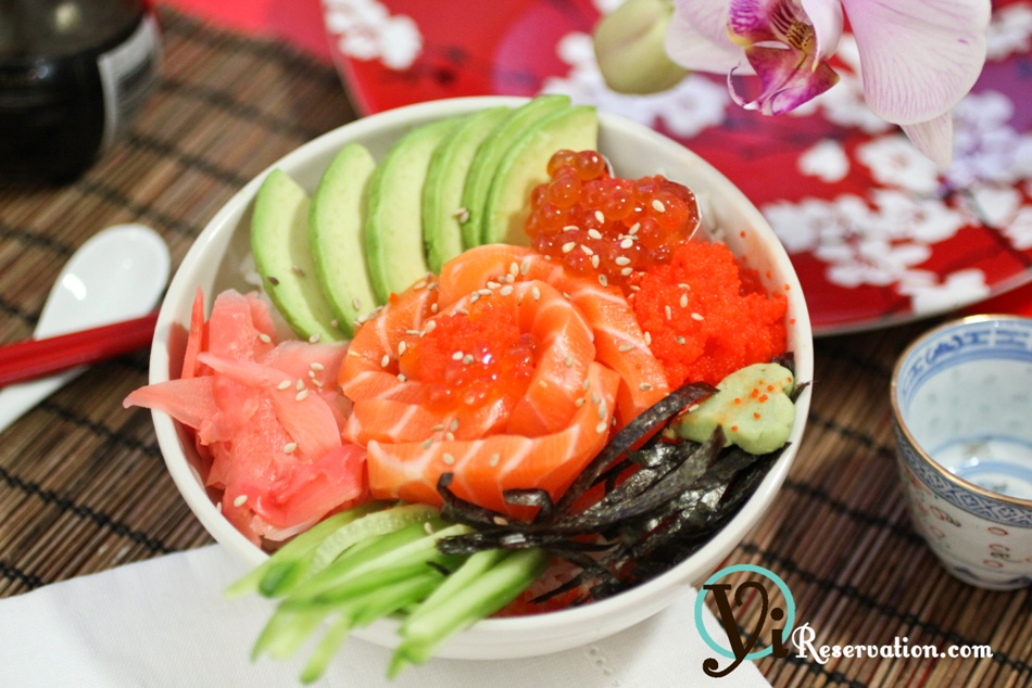 Valentine s day special sashimi rose rice bowl for Valentine s day meals to cook together