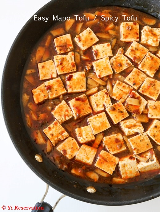 ... spicy tofu dish into mapo tofu just add additional Sichuan peppercorn