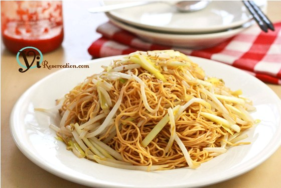 Post image for Stir-Fried Noodles with Soy Sauce (豉油王炒麵)