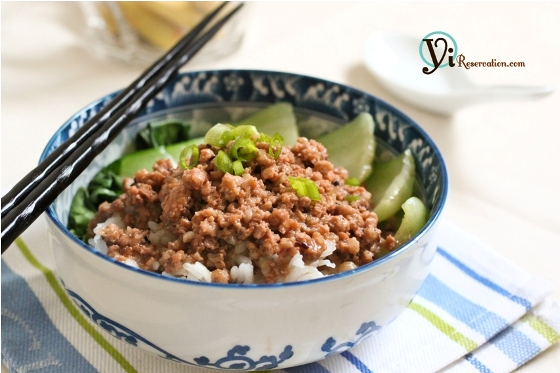 Post image for Taiwanese Minced Pork Sauce over Rice ()