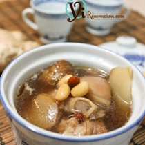 Chestnut with Pig Feet Soup (黃豆栗子豬手湯)