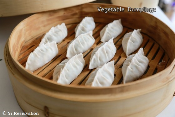 Chinese Vegetable Dumplings 素餃 | Yi Reservation