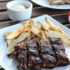 Thumbnail image for Honey Crusted Ribs and Oven Baked Fries with Fennel Aioli {Marx Foods Challenge}